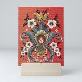 Rosemaling Vintage Design  Mini Art Print
