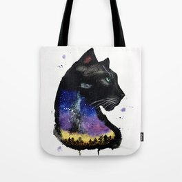 Galaxy Panther Tote Bag