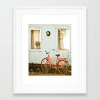 stockholm Framed Art Prints featuring Stockholm. by Mattea Weihe