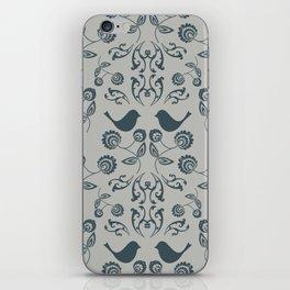 Bird Wallpaper with Warm Grey Background iPhone Skin