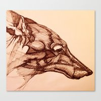 coyote Canvas Prints featuring Coyote  by jacobketcham