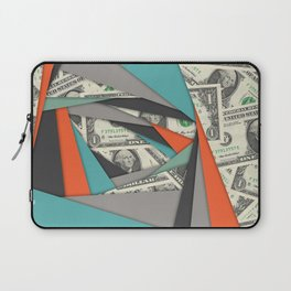 Colorful Currency Collage Laptop Sleeve