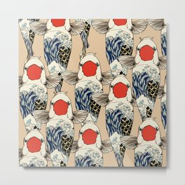 The Great Wave Of Koi Metal Print