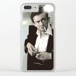 Hello I'm Johnny cash Clear iPhone Case