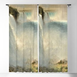 Niagara Falls from the American Side by Frederic Irwin Church Blackout Curtain