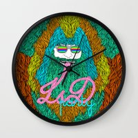lsd Wall Clocks featuring Lsd party by DIVIDUS