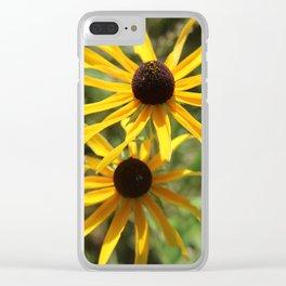 Brown Eyes 1 Clear iPhone Case