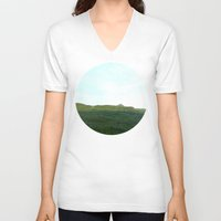 scotland V-neck T-shirts featuring road way, scotland by seb mcnulty