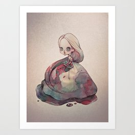 The Girl who Painted Herself Art Print