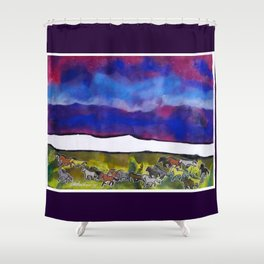Sky Ponies #32 Shower Curtain