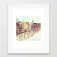 amsterdam Framed Art Prints featuring Amsterdam by Rebecca Mcmillan