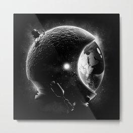 Moon's Helmet Metal Print
