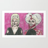 """rupaul Art Prints featuring """"Wake Up Pearl!"""" by Vincenzo Dama"""