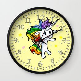 Magical Rainbow Unicorn Wall Clock