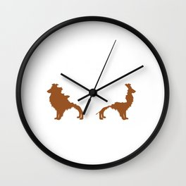 Shetland Sheepdog Animals Pets Doggie Dogs Gift Shelties Are Like Potato Chips Wall Clock
