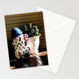 Ben and flowerpot Stationery Cards