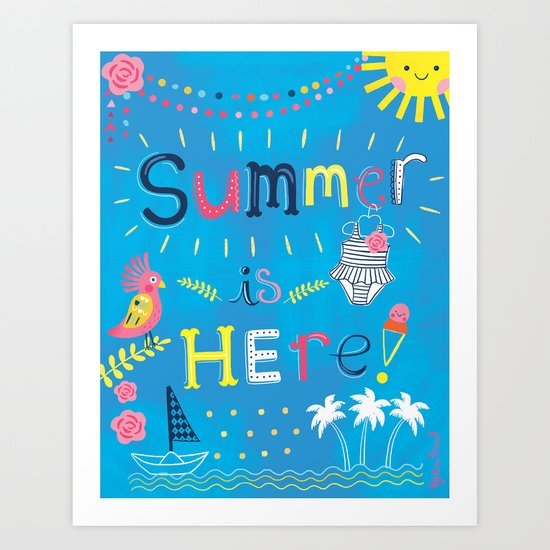 Summer is HERE! Let's beach it up!  Art Print