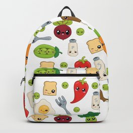 Cute Kawaii Food Pattern Backpack