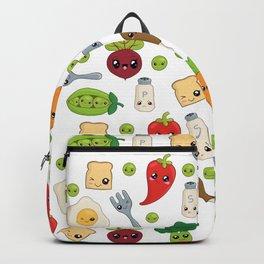Cute Kawaii Food Pattern Backpack