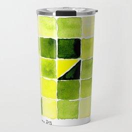 Color Chart - Lemon Yellow (DS) and Sap Green (DS) Travel Mug