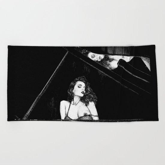 asc 655 - La pianiste (Romanian rhapsody) Beach Towel