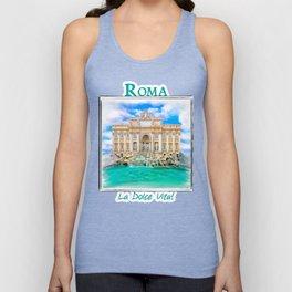 La Dolce Vita - Rome's Trevi Fountain Unisex Tank Top