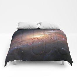 Spiral Galaxy M106 Comforters