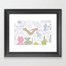 Y 2 K Framed Art Print