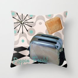 Fifties Kitchen Toaster Throw Pillow
