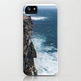 Cliffs off Dún Aonghasa iPhone Case
