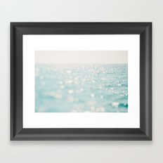 Sparkles at sea Framed Art Print