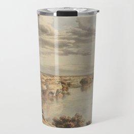 Murray River, Moorundi by Eu von Guerard Date 1867  Romanticism Series Australian Landscapes Travel Mug
