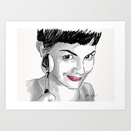 Amelie and Spoon. Art Print