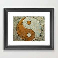 Gold Yin Yang Framed Art Print