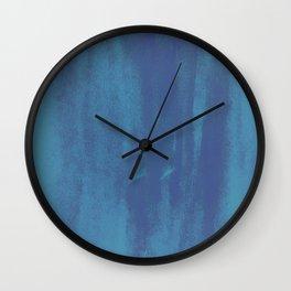 Cerulean Blue Wall Clock