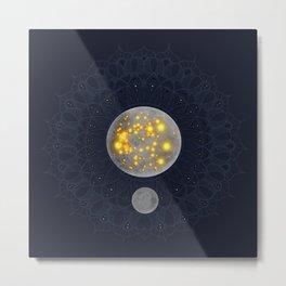 Mandala Moons Metal Print