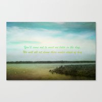 poem Canvas Prints featuring Summer Poem by Armine Nersisian