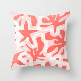 Living Coral View Throw Pillow