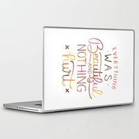 vonnegut Laptop & iPad Skins featuring Everything Was Beautiful and Nothing Hurt by IndigoEleven