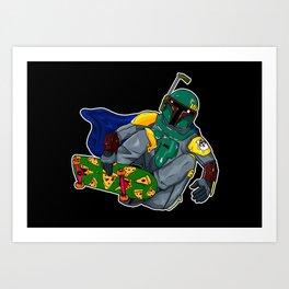 boba fett skaters Art Print