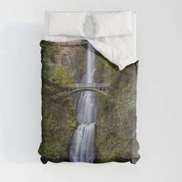 Multnomah Falls in Early Fall Comforters