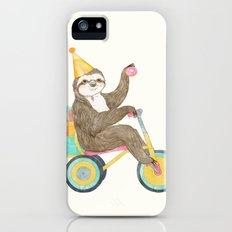 birthday sloth iPhone (5, 5s) Slim Case