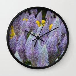 Australian Foxtail Flower Wall Clock