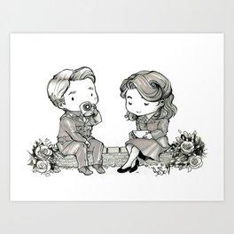 Tea for two : Peggy & Steve Art Print