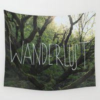 wanderlust Wall Tapestries featuring Wanderlust by Leah Flores