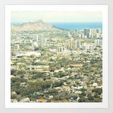 Waikiki Cityscape Art Print