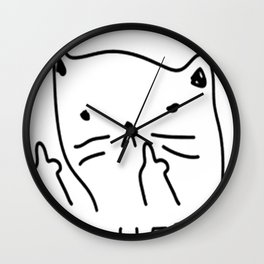 GET MEOWT OF HERE Wall Clock