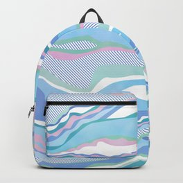 cotton candy pastel lines Backpack
