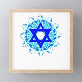Jewish Star Framed Mini Art Print