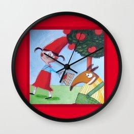 Cappuccetto Rosso -1 Wall Clock